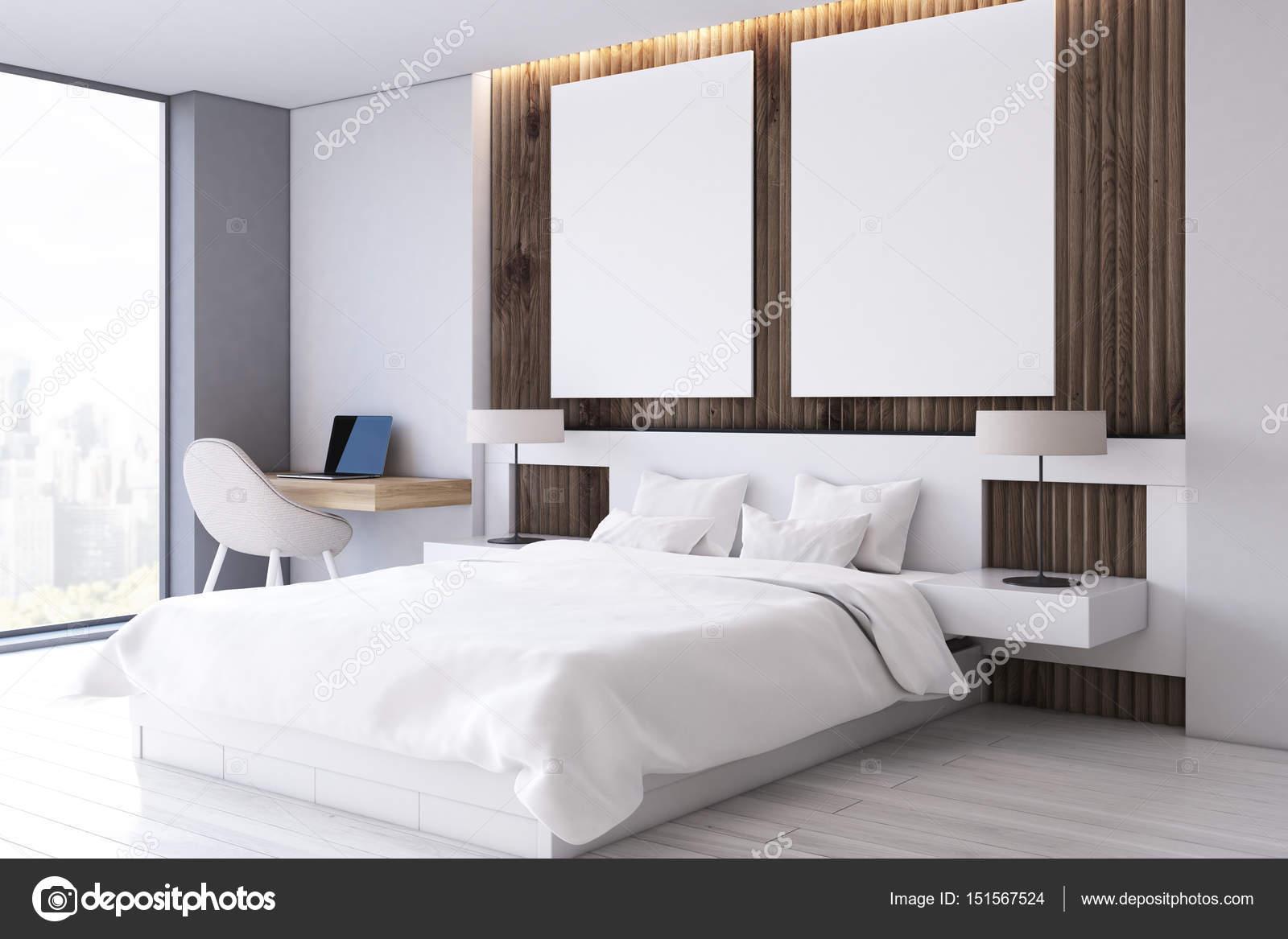 Poster di due camera da letto, studio, lato — Foto Stock ...