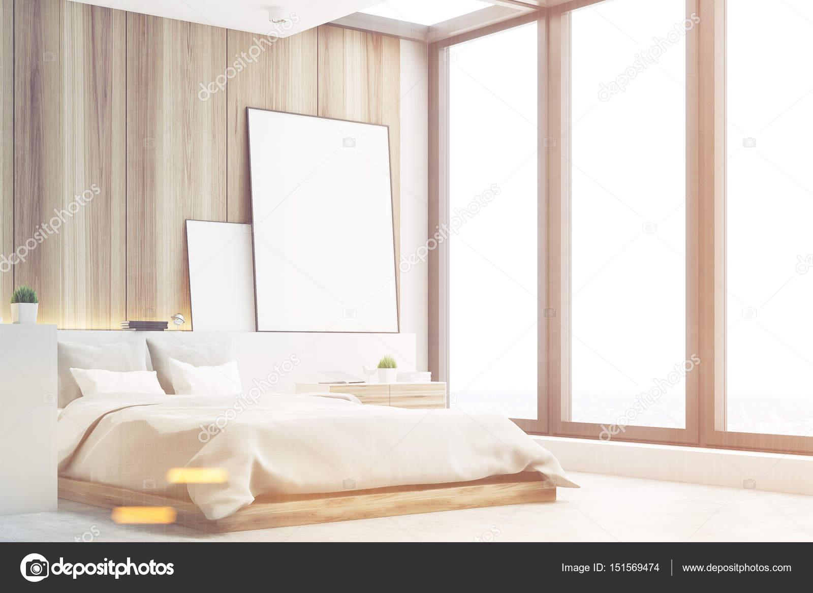 Helle Schlafzimmer Holz Seite Getont Stockfoto C Denisismagilov
