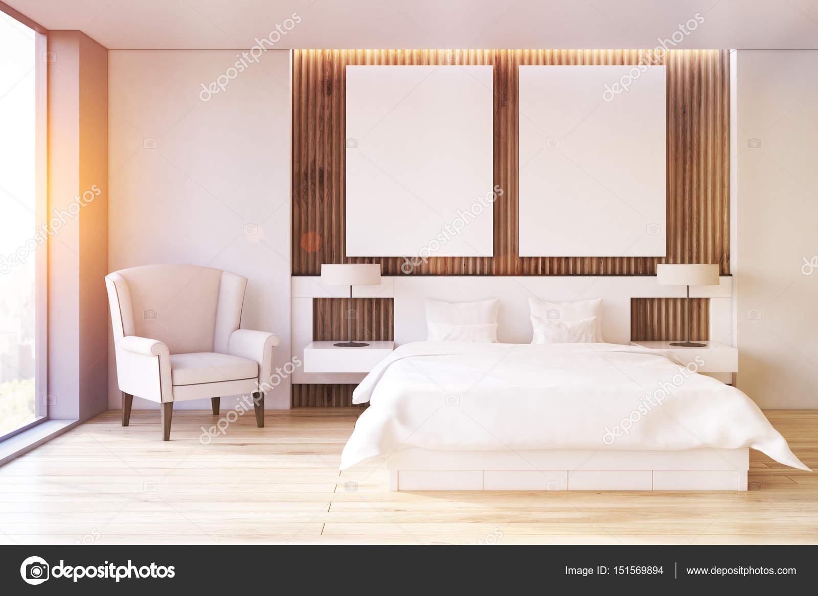 Due poster camera da letto, poltrona, parte anteriore, tonica — Foto ...