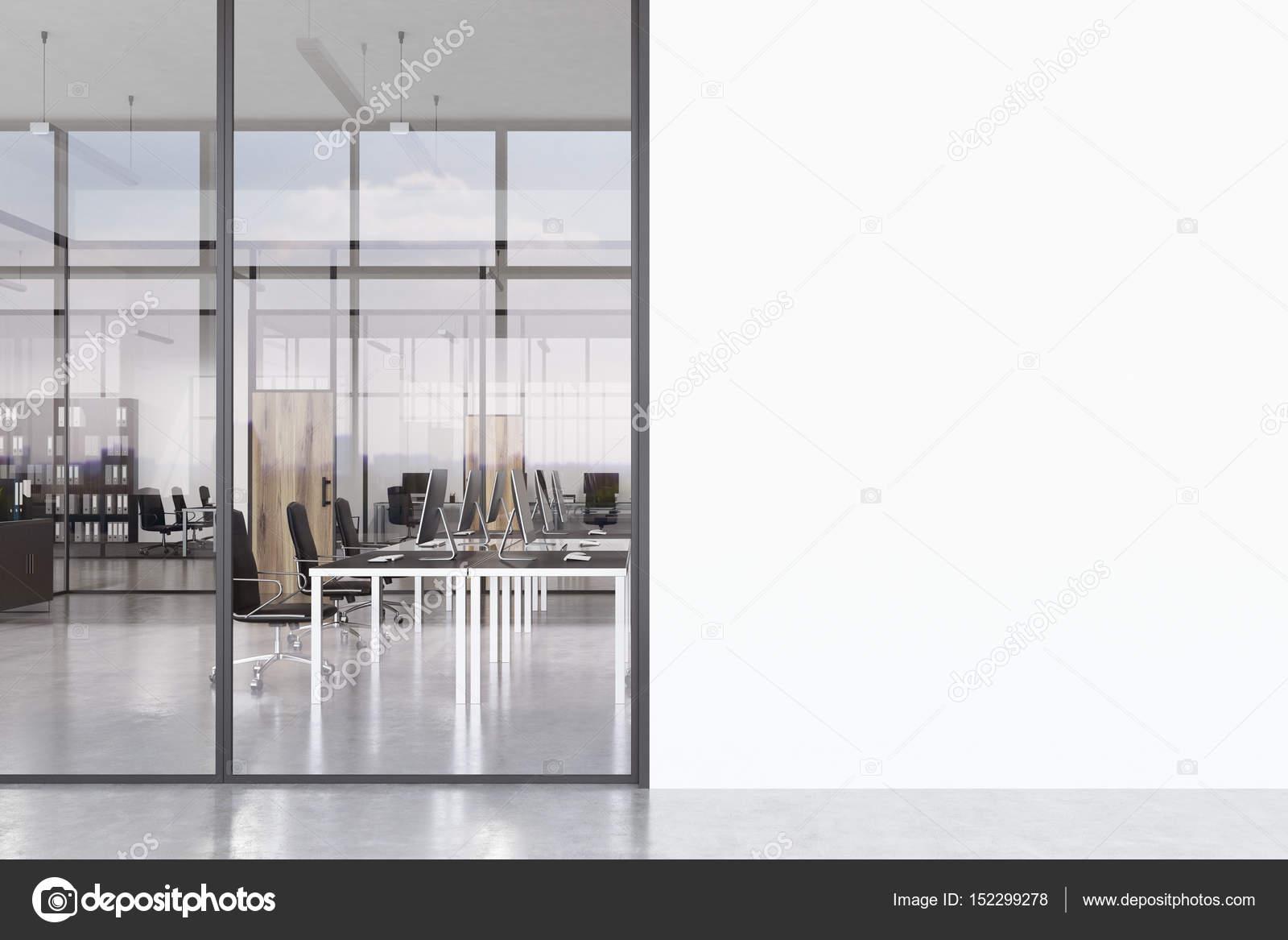Ofice corridor lege witte muur u2014 stockfoto © denisismagilov #152299278
