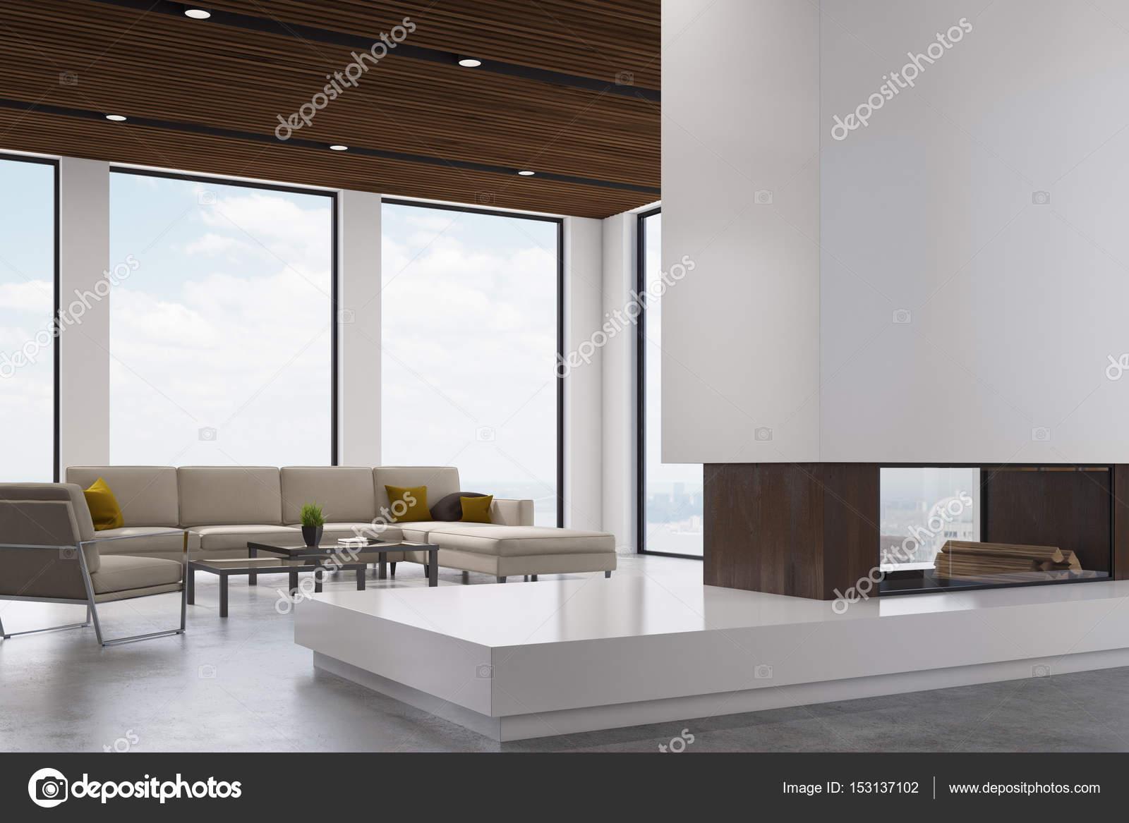 Kamin Wohnzimmer, Seite U2014 Stockfoto