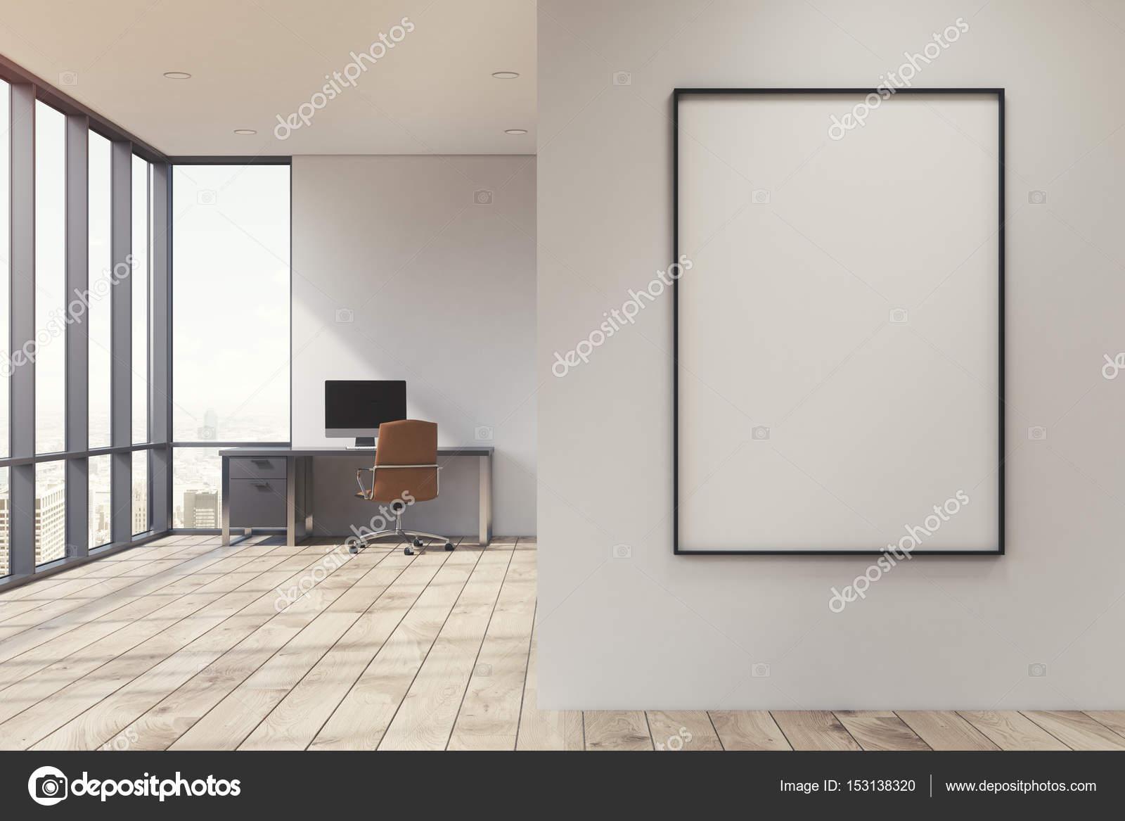 Bureau à la maison blanche avec affiche photo