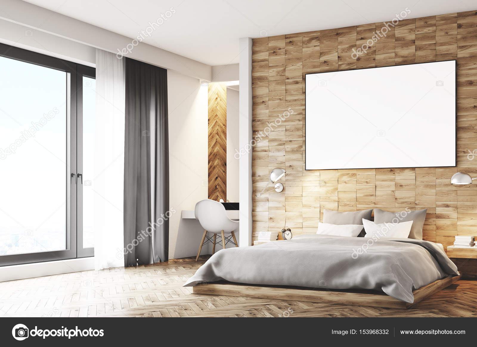 Luce in legno camera da letto, angolo — Foto Stock © denisismagilov ...