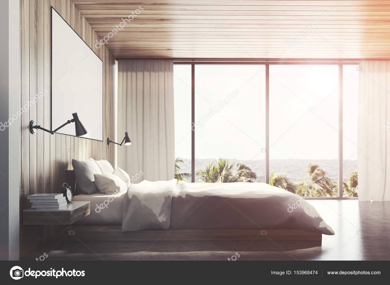 Eco in legno camera da letto lato tonica u foto stock