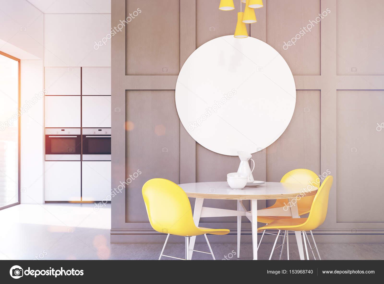 Cocina gris, redonda cartel, tonos — Fotos de Stock © denisismagilov ...