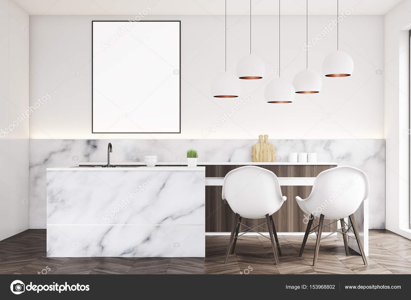 Marmo cucina con poster, anteriore — Foto Stock © denisismagilov ...