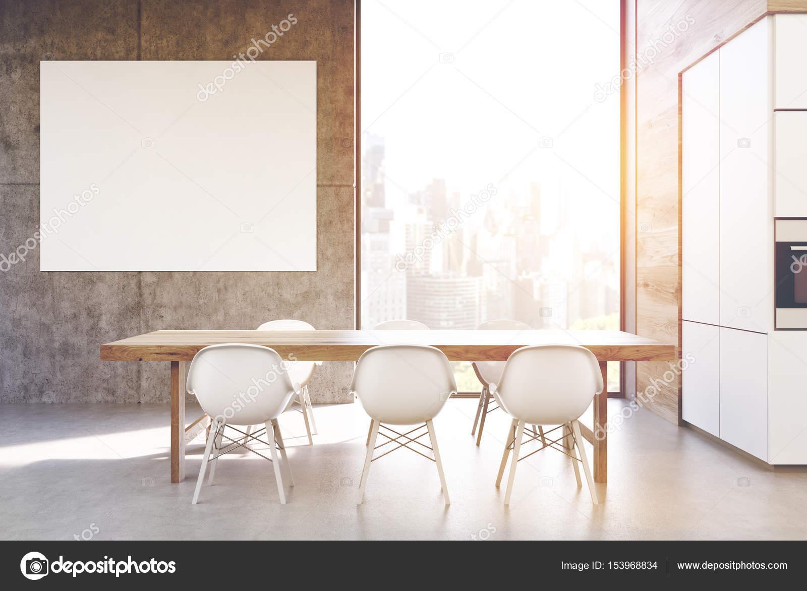 Tavolo da cucina con poster, tonica — Foto Stock © denisismagilov ...
