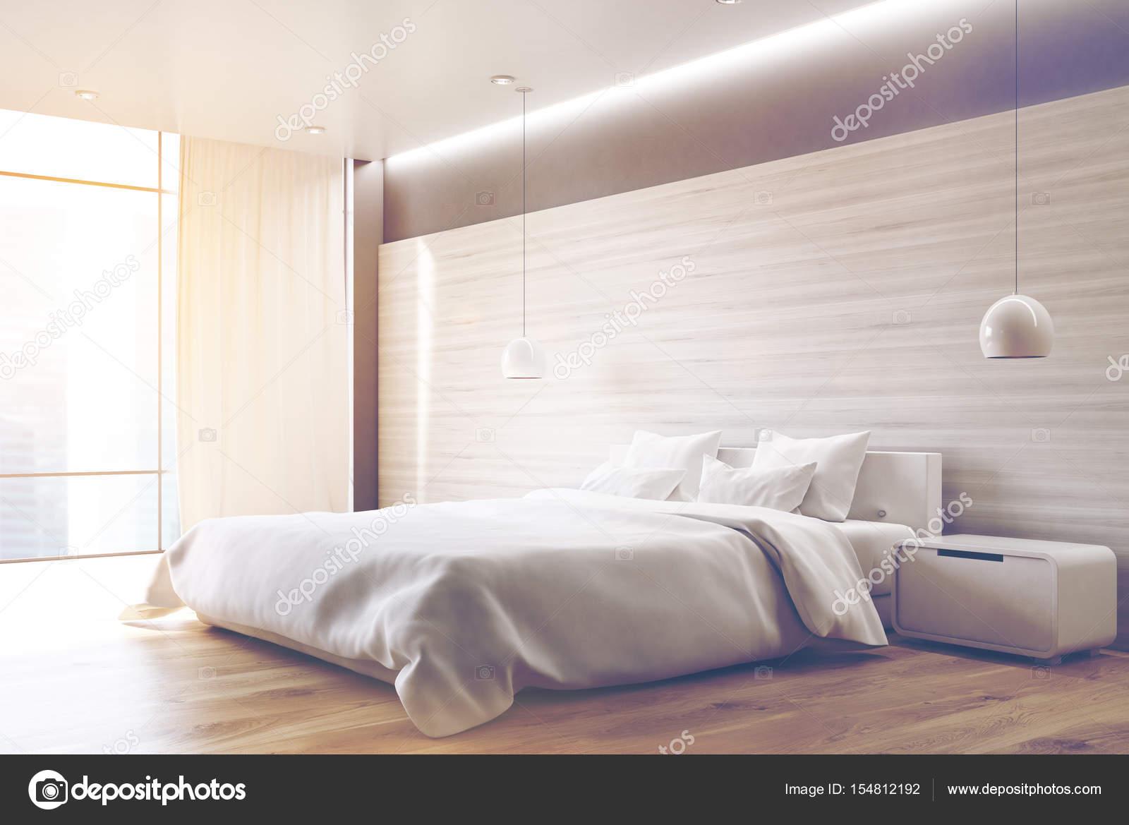 Camera da letto grigio, angolo, tonica — Foto Stock © denisismagilov ...