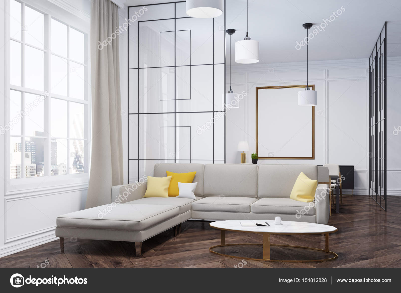 Sofa and dresser living room corner — Stock Photo © denisismagilov ...