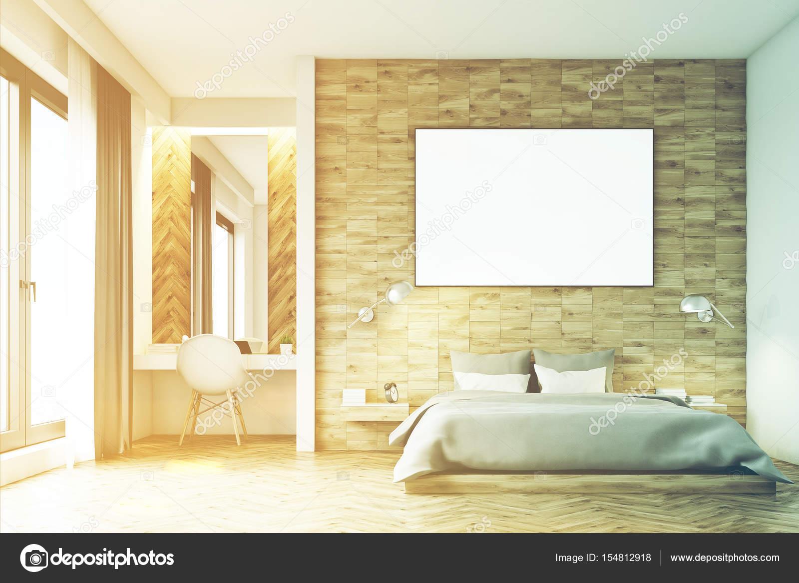 Camera Da Letto Legno Chiaro : Camera da letto in legno chiaro frontale tonica u2014 foto stock