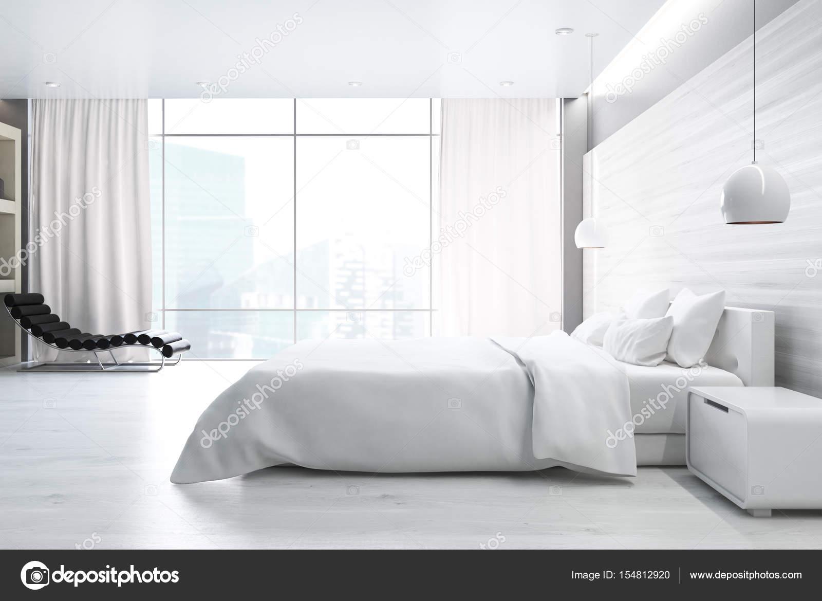 Camera da letto bianca, lato — Foto Stock © denisismagilov #154812920