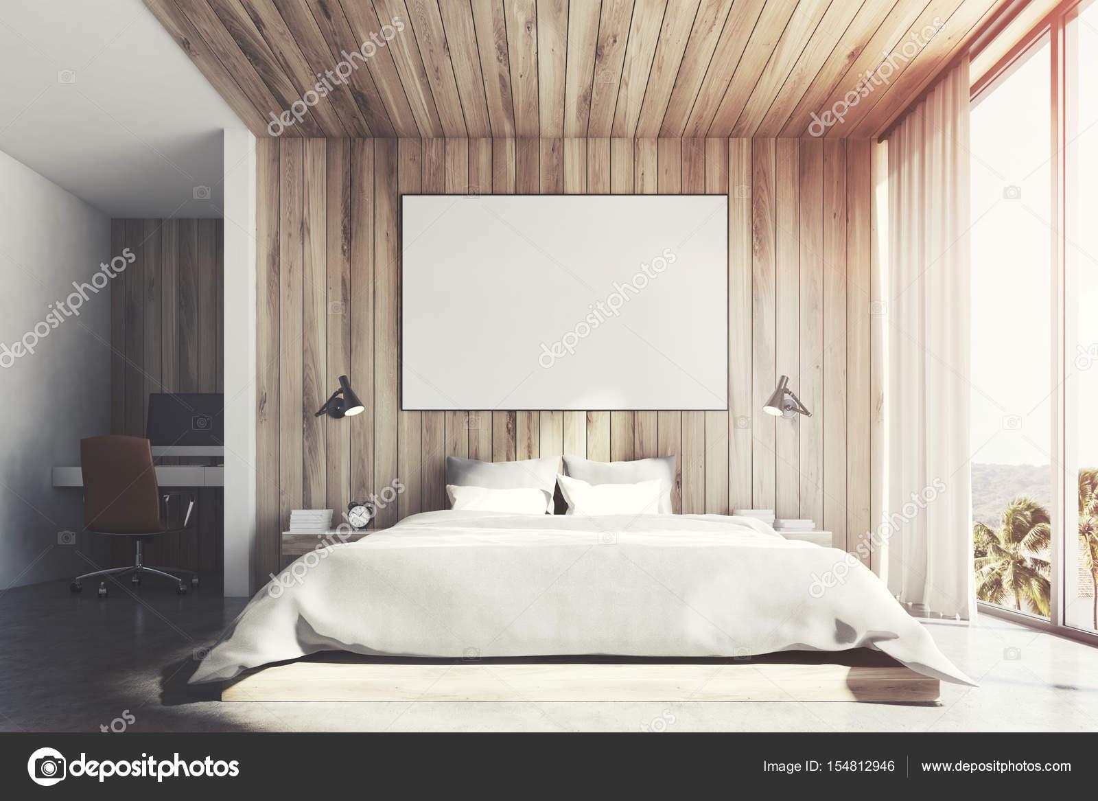 Camera in legno eco frontale tonica u foto stock