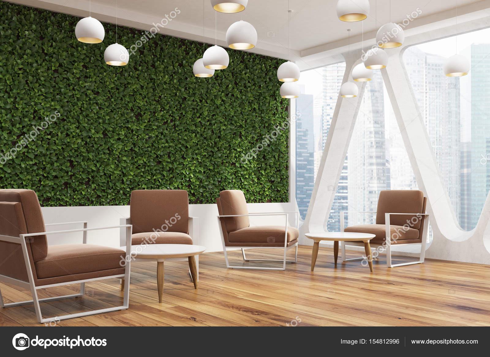 Buro Cafe Rasen Wand Braune Seite Stockfoto C Denisismagilov