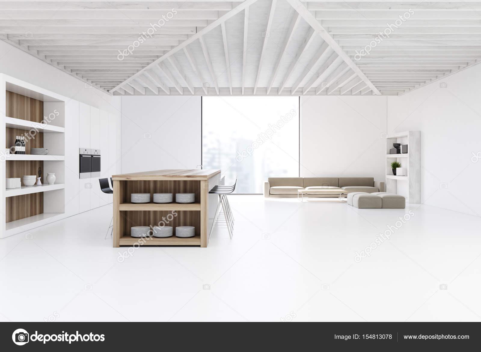 Studioküche und Wohnzimmer — Stockfoto © denisismagilov #154813078