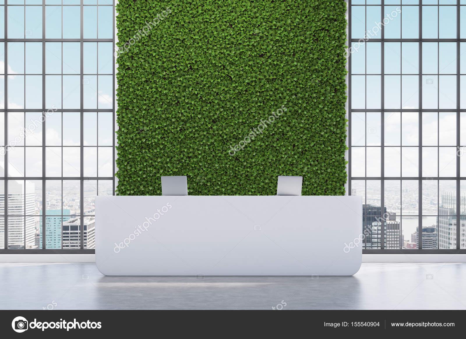Parete Verde Ufficio : Banco reception parete verde u2014 foto stock © denisismagilov #155540904