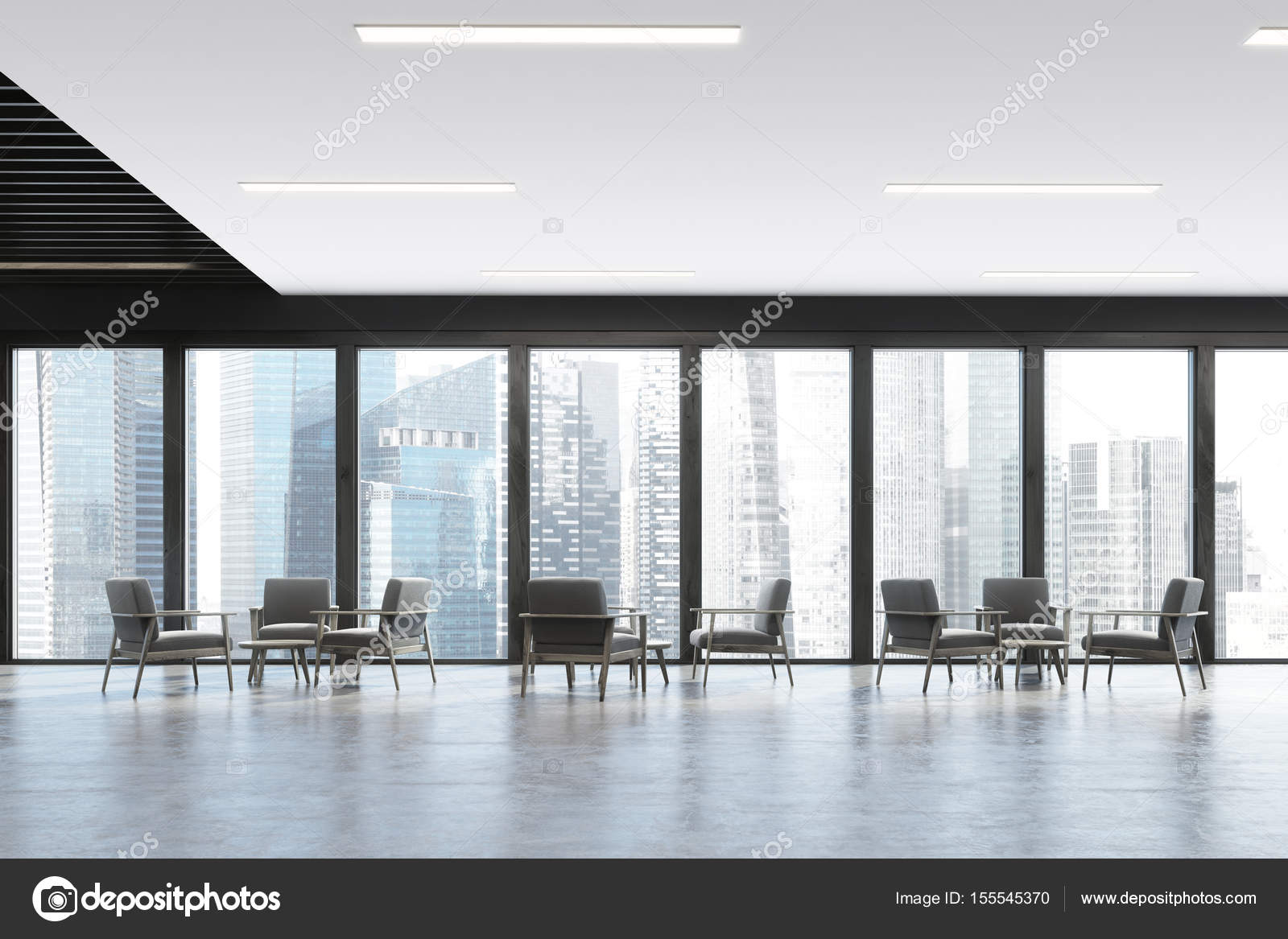 Panorama Büro Wartezimmer, dunkel — Stockfoto © denisismagilov ...