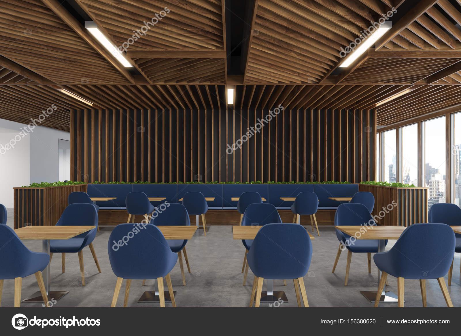 Café blauer Stuhl Holz-Interieur — Stockfoto © denisismagilov #156380620