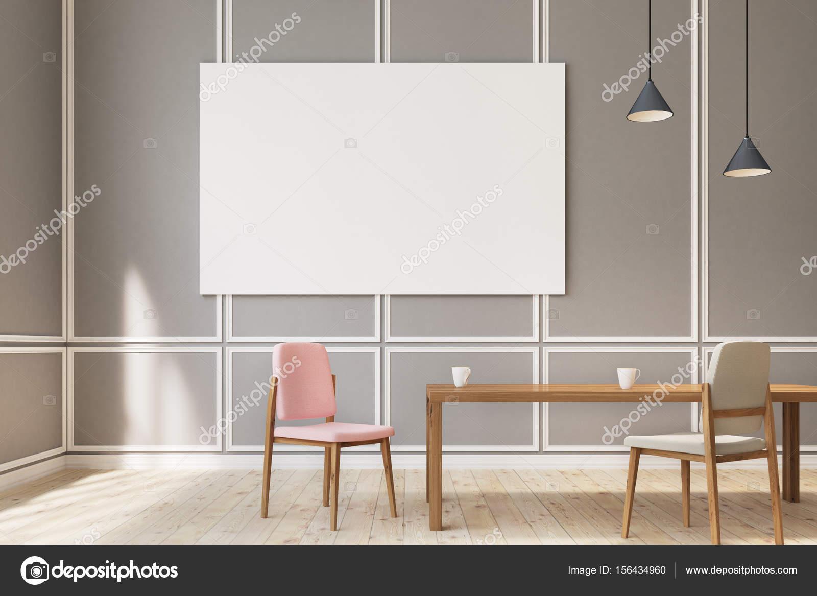 Poster di grandi dimensioni sala da pranzo, sedie — Foto Stock ...
