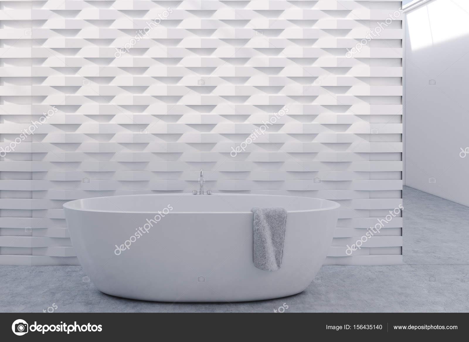 Vasca Da Bagno Rotonda : Vasca da bagno rotonda parete del reticolo del mattone whtie u2014 foto