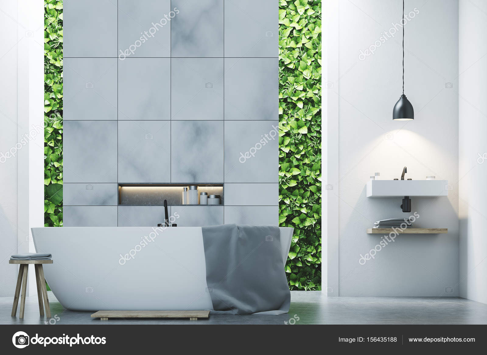 Eco bathroom two sinks, marble tiles close up — Stock Photo ...