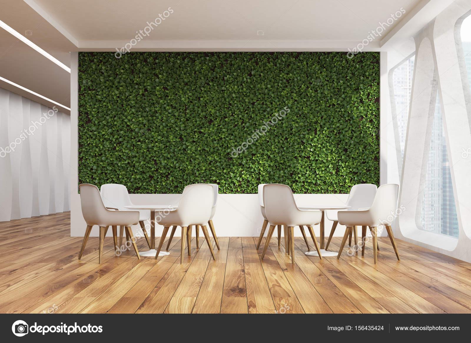 Buro Cafe Interieur Rasen Wand Vorne Stockfoto C Denisismagilov