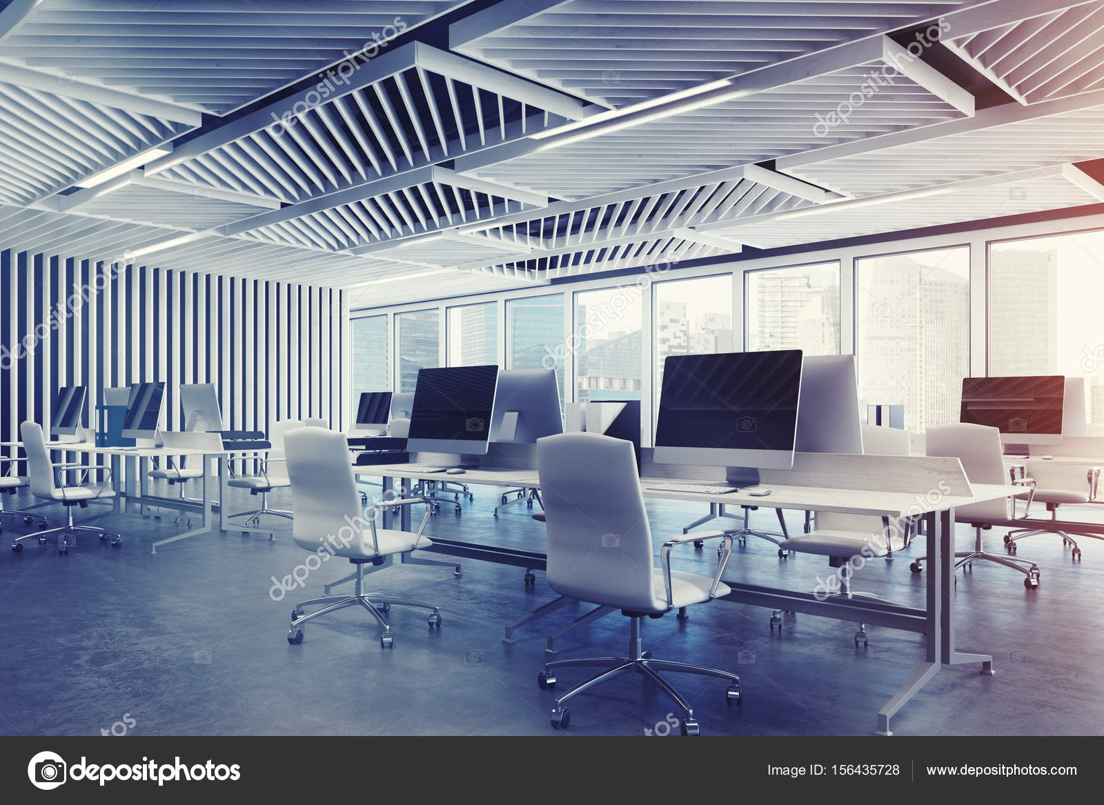 Arredo Ufficio Grigio : Scrivania per ufficio colore grigio chiaro arredamento e