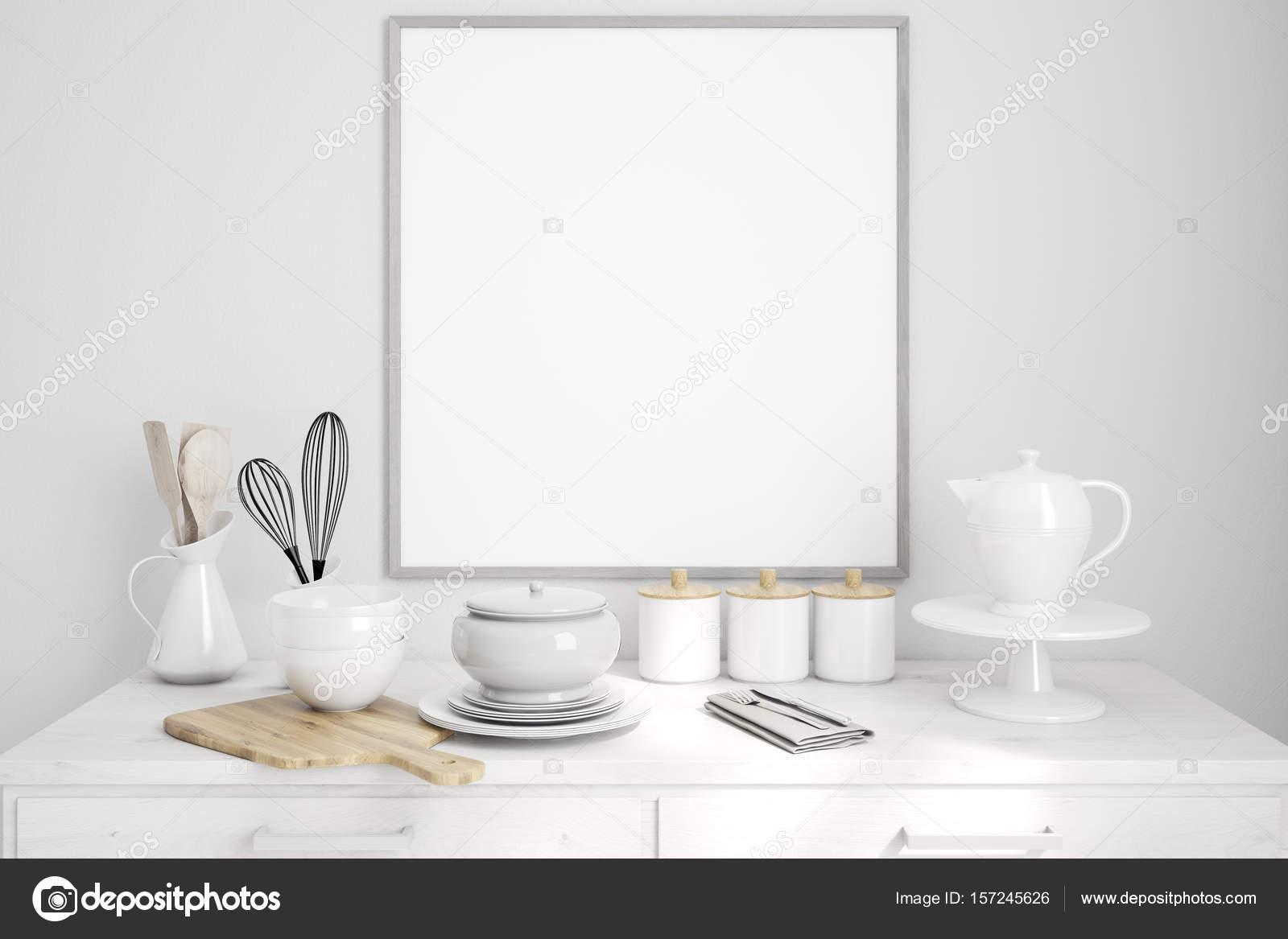 Photo Rectangulaire De Table Cuisine En Bois Photographie