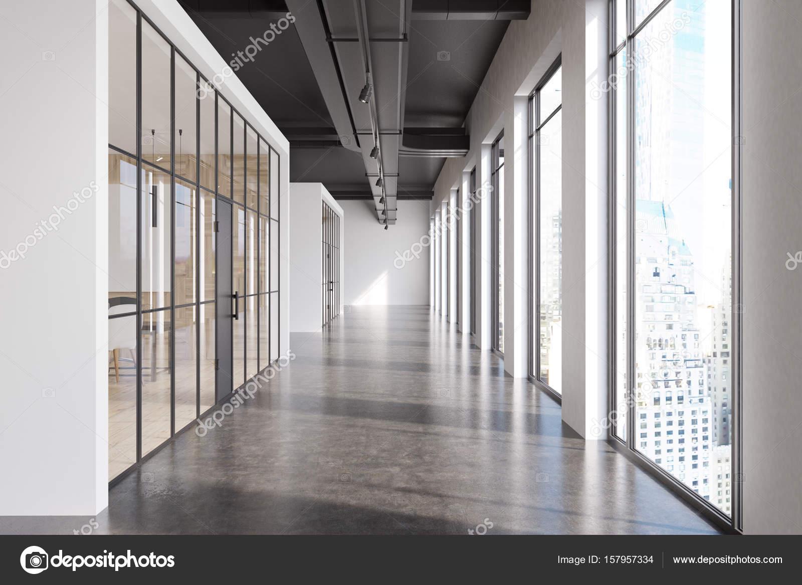 Buro Flur Glaswande Vorne Stockfoto C Denisismagilov 157957334