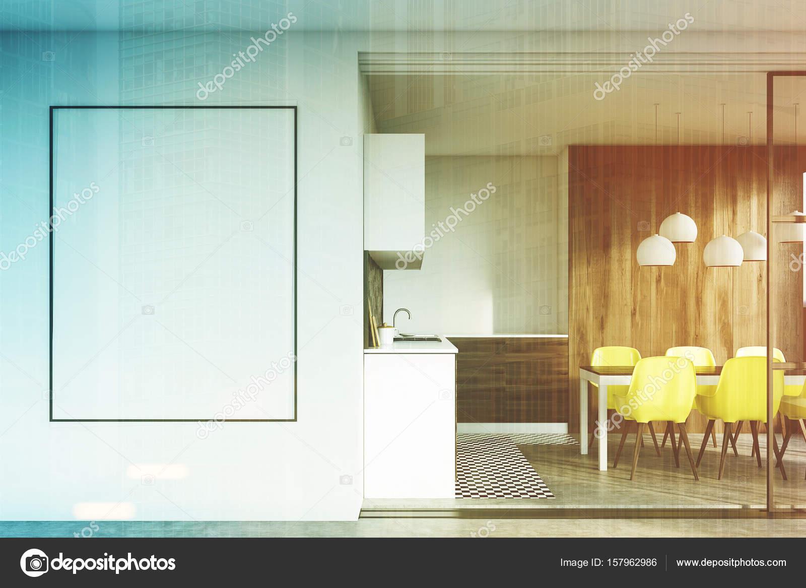 Cucina in legno scura, poster tonica — Foto Stock © denisismagilov ...