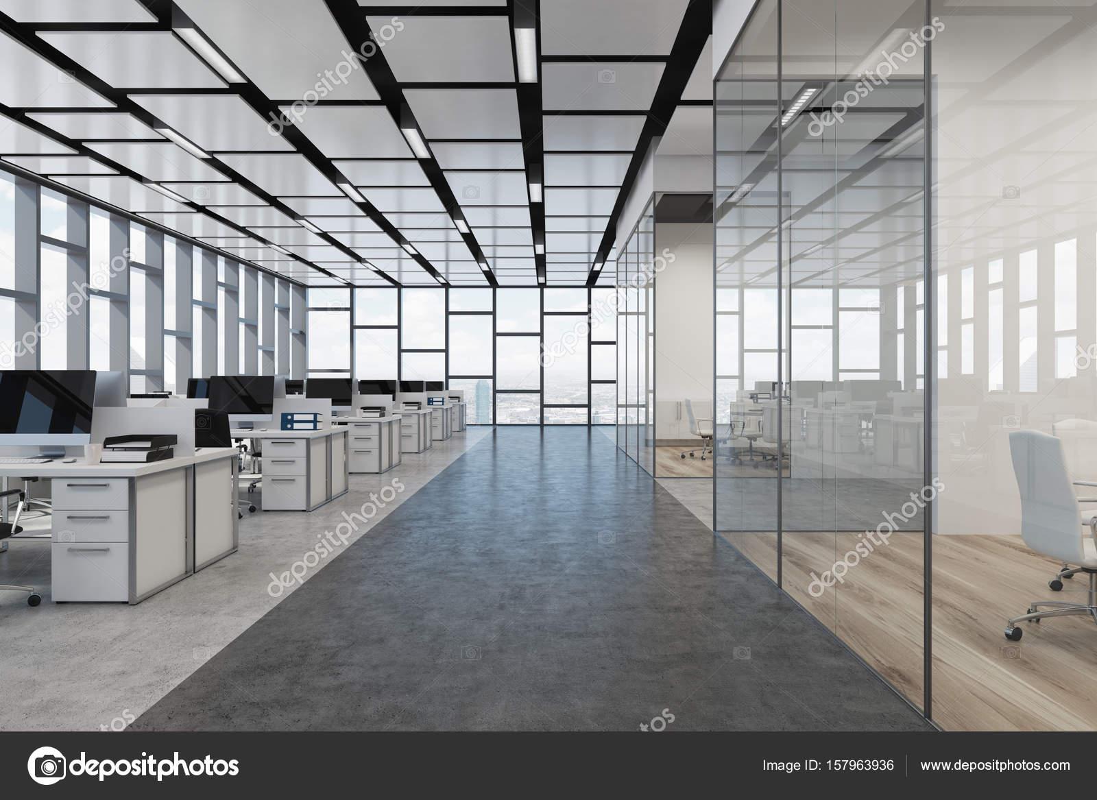 White brick open space office attic stock illustration