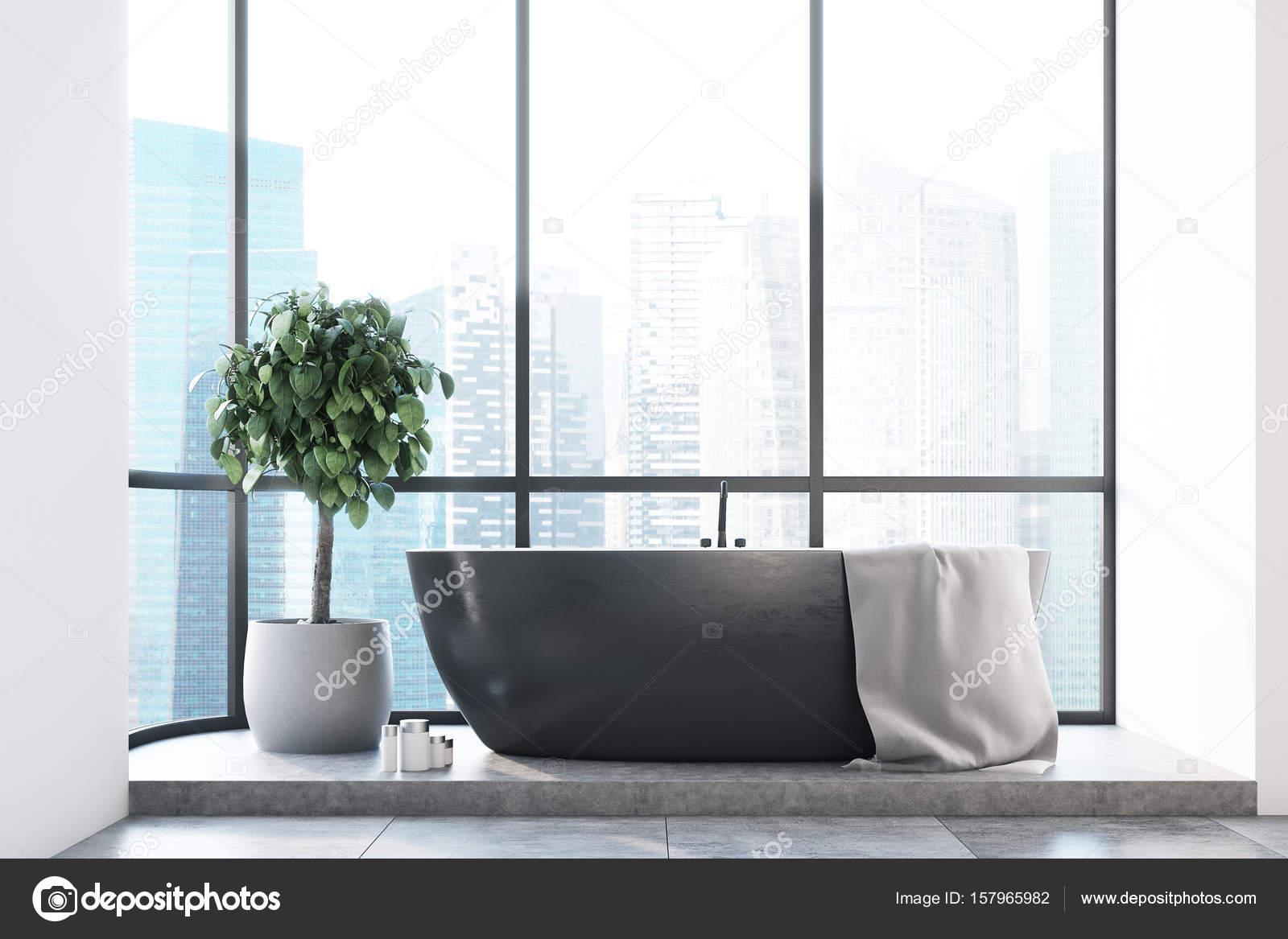 Vasca Da Bagno Nera : Vasca da bagno panoramico nero u2014 foto stock © denisismagilov #157965982