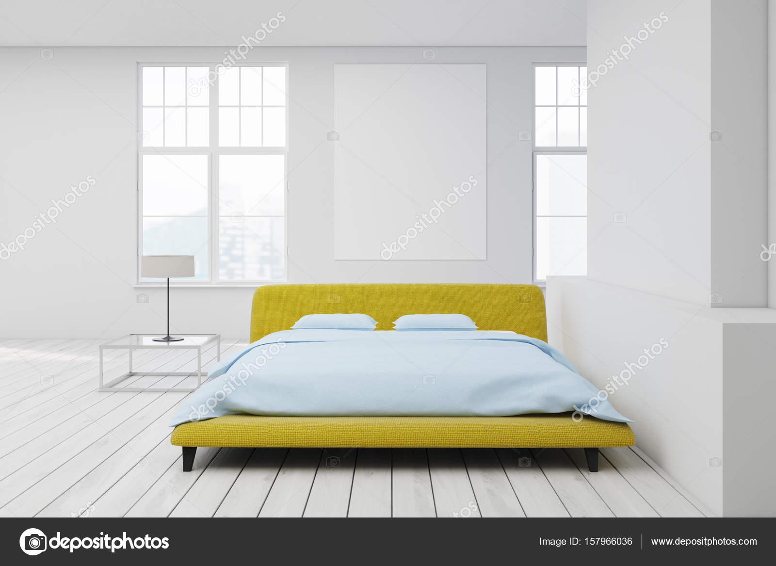 Letto Matrimoniale Giallo : Piano giallo letto bianco poster u2014 foto stock © denisismagilov