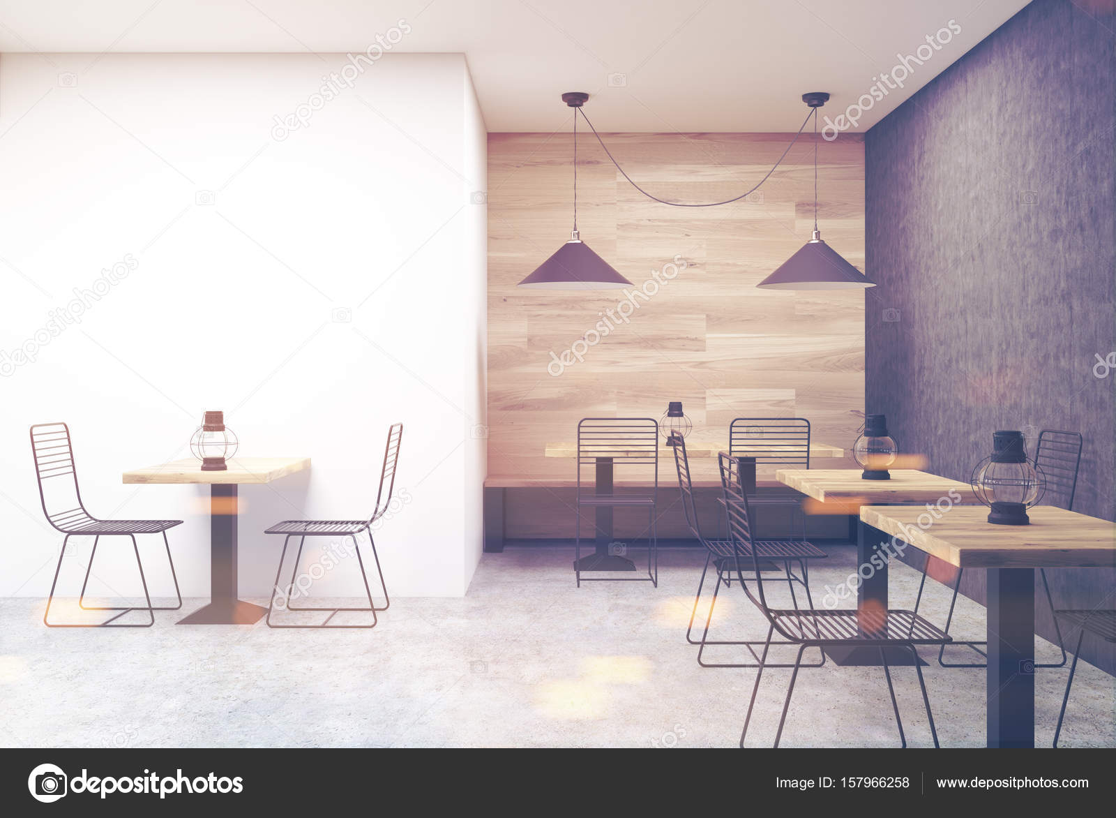 Pareti Con Foto In Bianco E Nero : In legno bianco e nero caffè parete tonica u foto stock