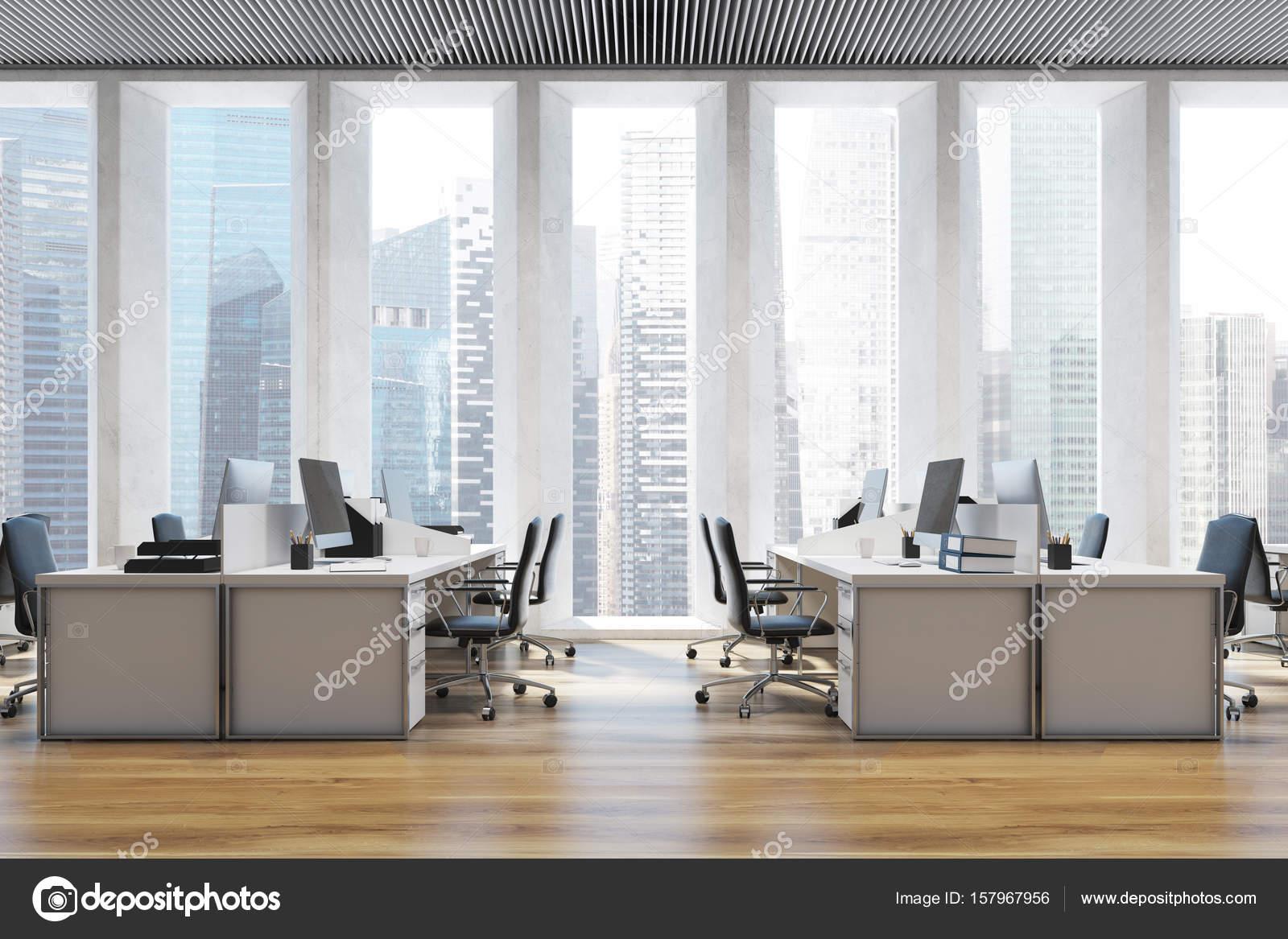 Piante Ufficio Open Space : Chiuda lambiente di lavoro in un ufficio open space u2014 foto stock