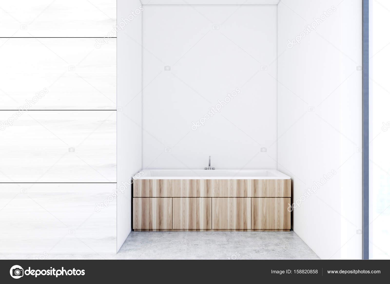 Houten badkamer met kasten white kamer u stockfoto