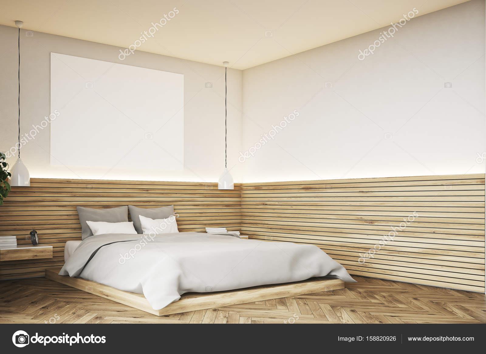 Houten badkamer met een poster, hoek — Stockfoto © denisismagilov ...
