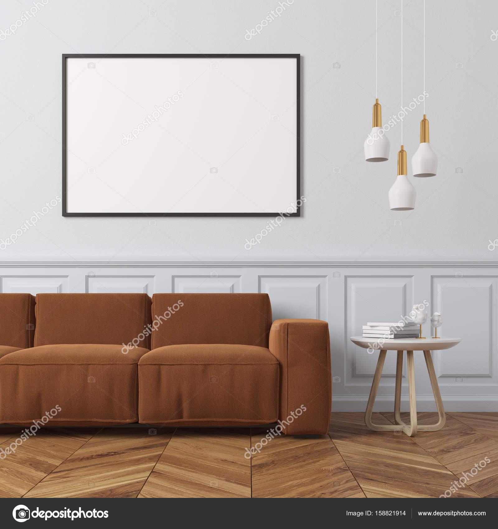 Sala de estar blanco, marrón — Fotos de Stock © denisismagilov ...