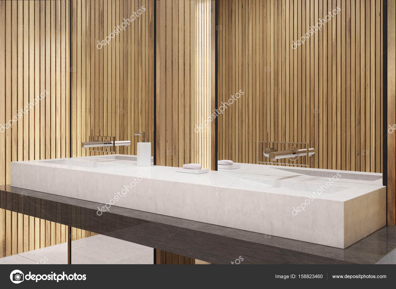 Salle De Bain Plan Bois ~ gros plan panoramique salle de bains en bois photographie