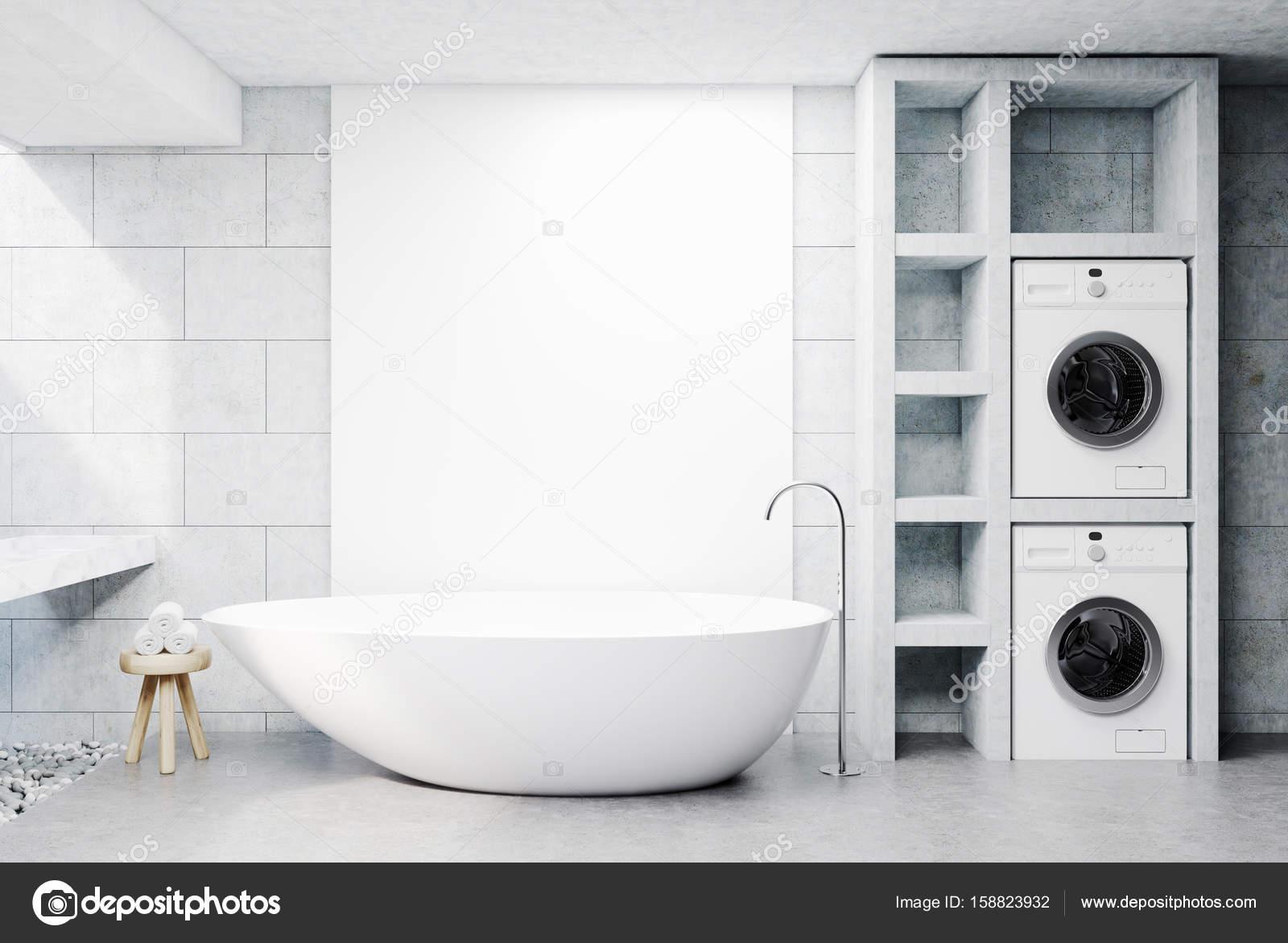 Wasmachine-Badkamer, concrete — Stockfoto © denisismagilov #158823932