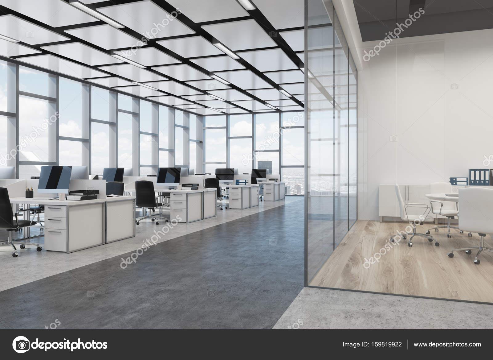 Rechthoekige decoratie open ruimte kantoor hoek u stockfoto