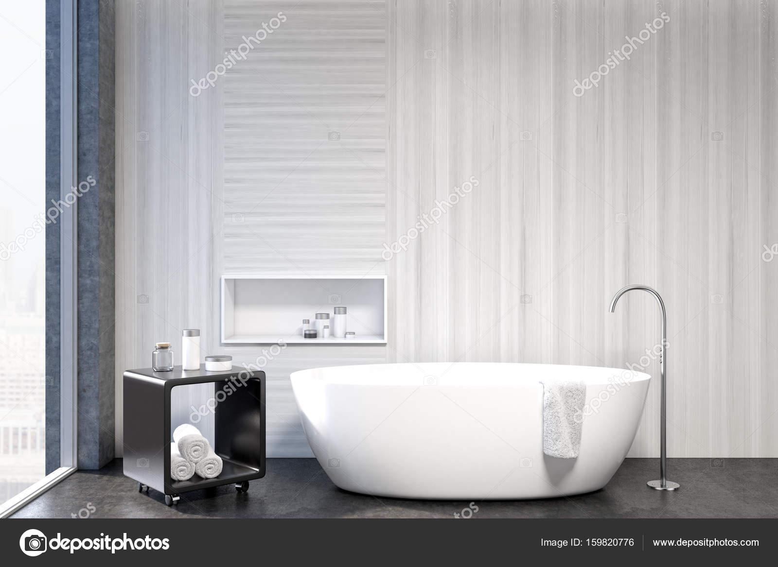 Weiße Badezimmer Interieur, Nische Closeup U2014 Stockfoto
