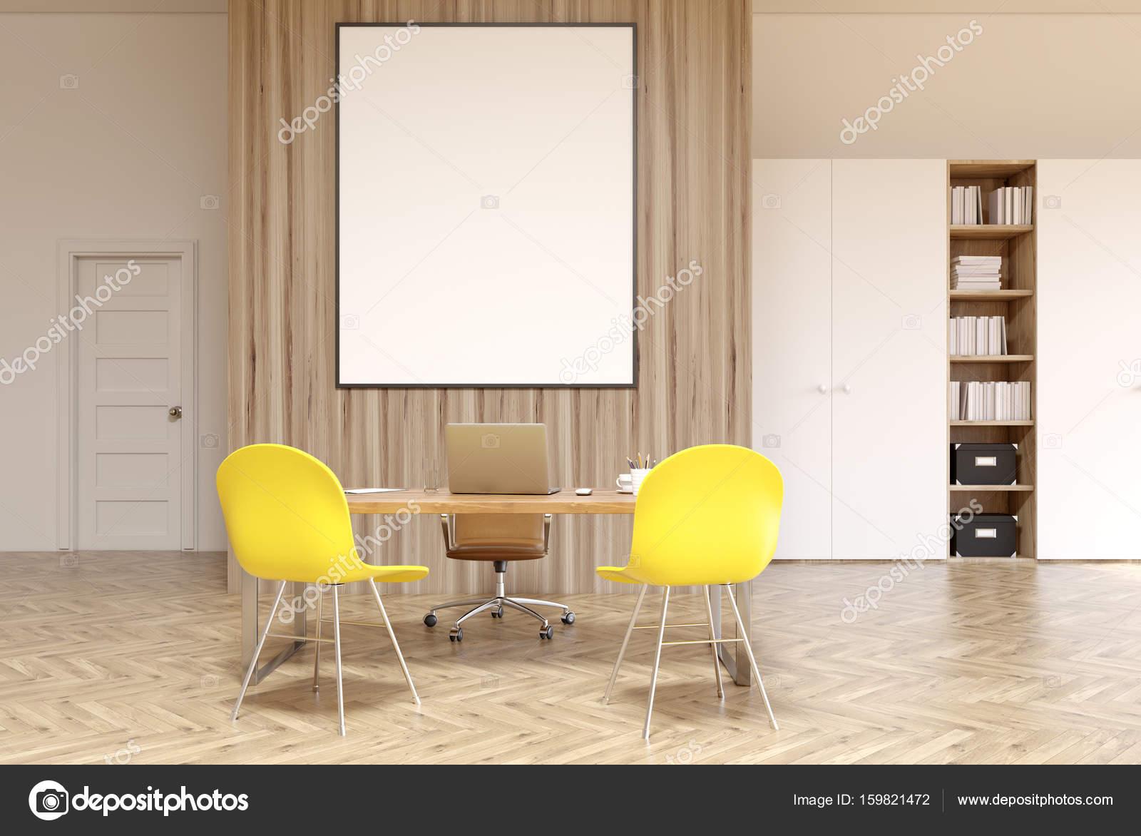Ufficio Bianco E Legno : Ufficio bianco e legno poster verticale u foto stock