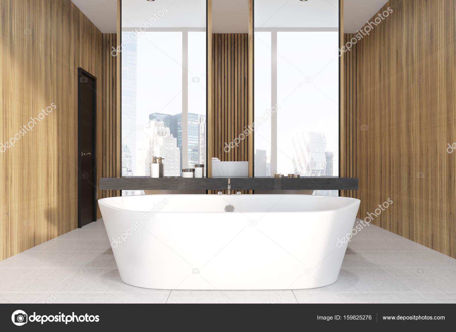 Aus Holz Bad, Doppelwaschbecken — Stockfoto © denisismagilov #159825276