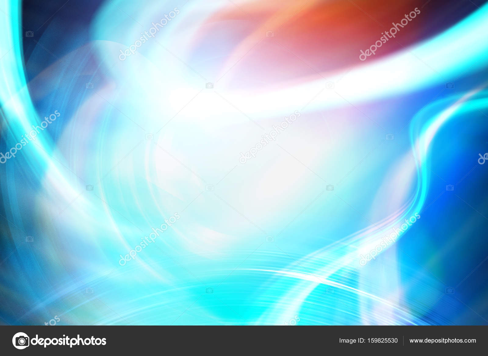 Abstract Blue Red And White Background Stock Photo