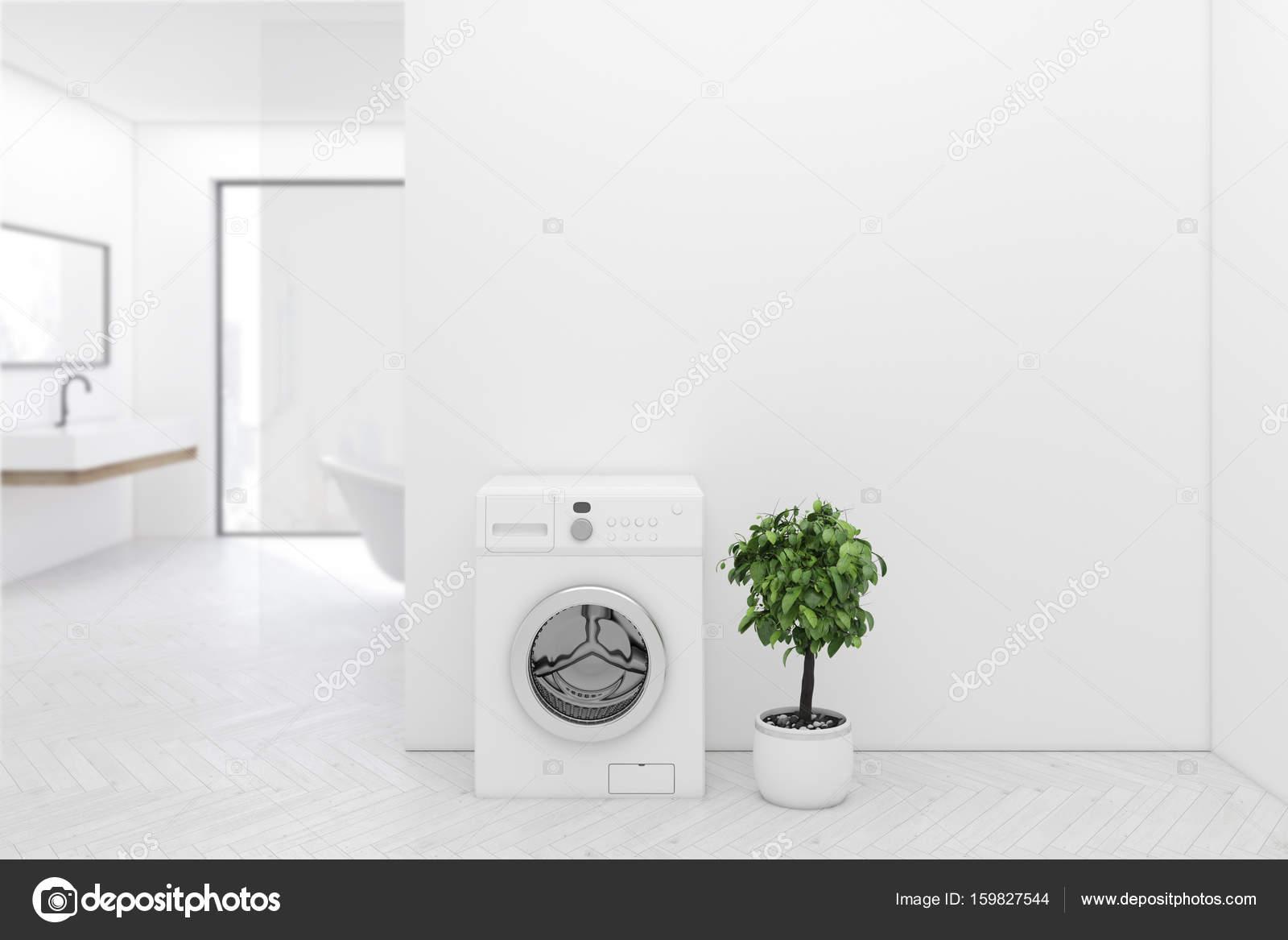 Wasmachine In Badkamer : Witte vloer badkamer wasmachine close up u stockfoto