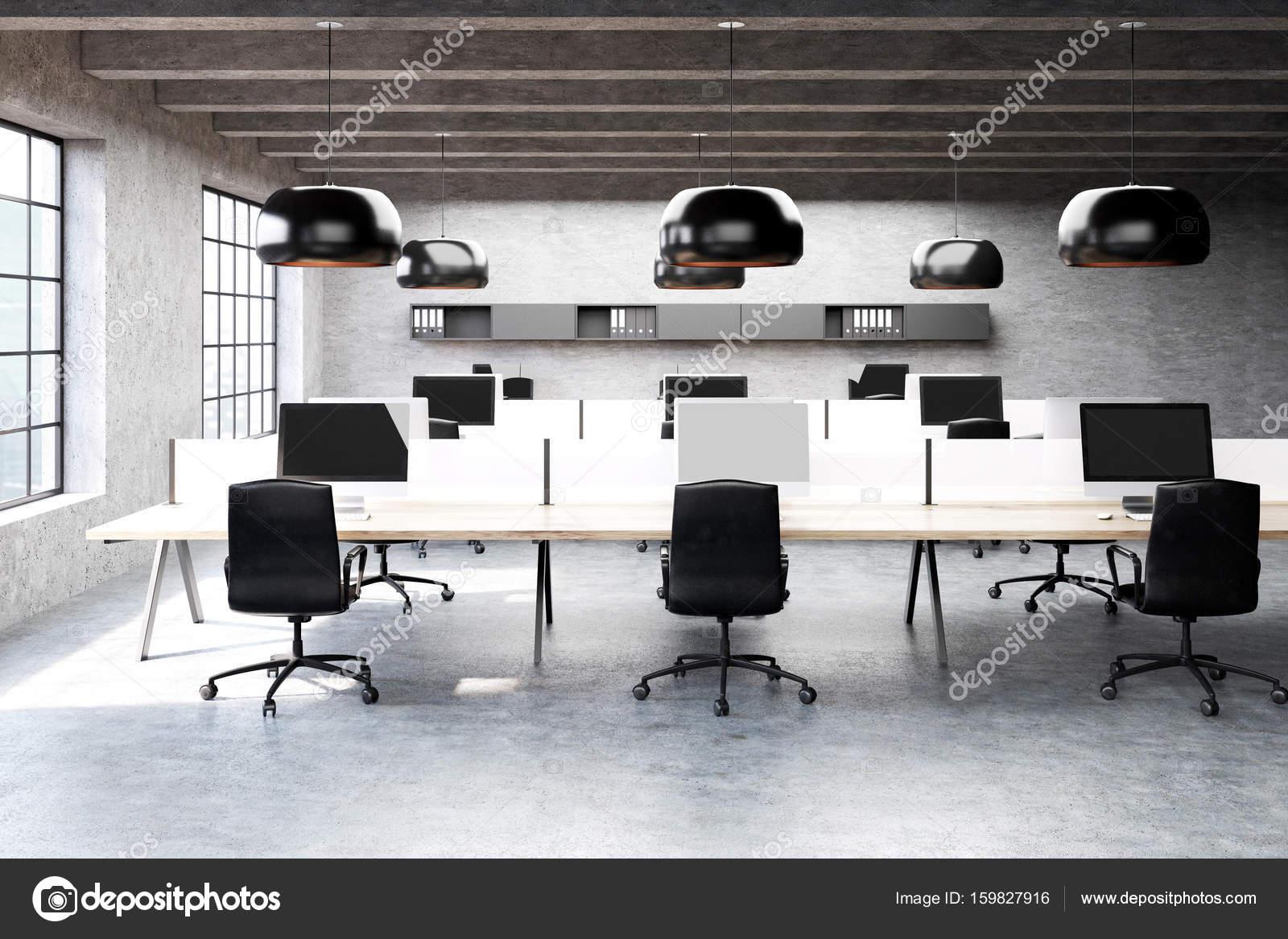 Illuminazione Ufficio Open Space : Ufficio moderno open space in un loft u2014 foto stock © denisismagilov