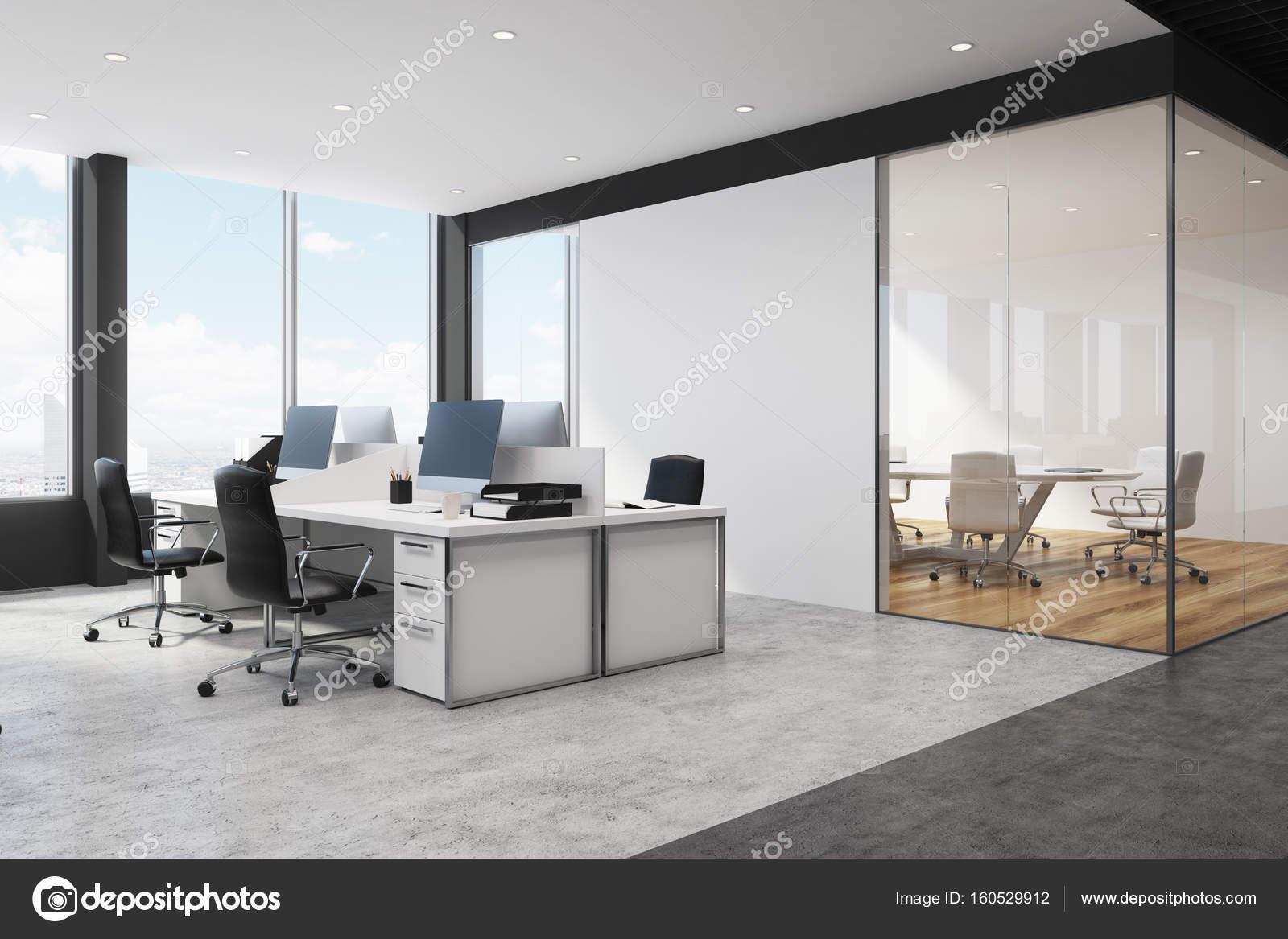 Ouvrent le coin bureau espace blanc et noir u2014 photographie