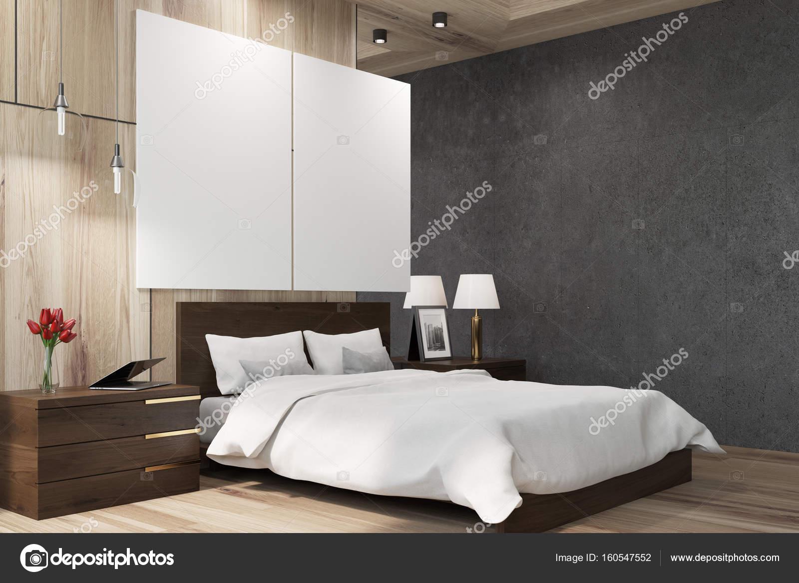 Posters Per Camera Da Letto : Nero e legno camera da letto poster side u foto stock