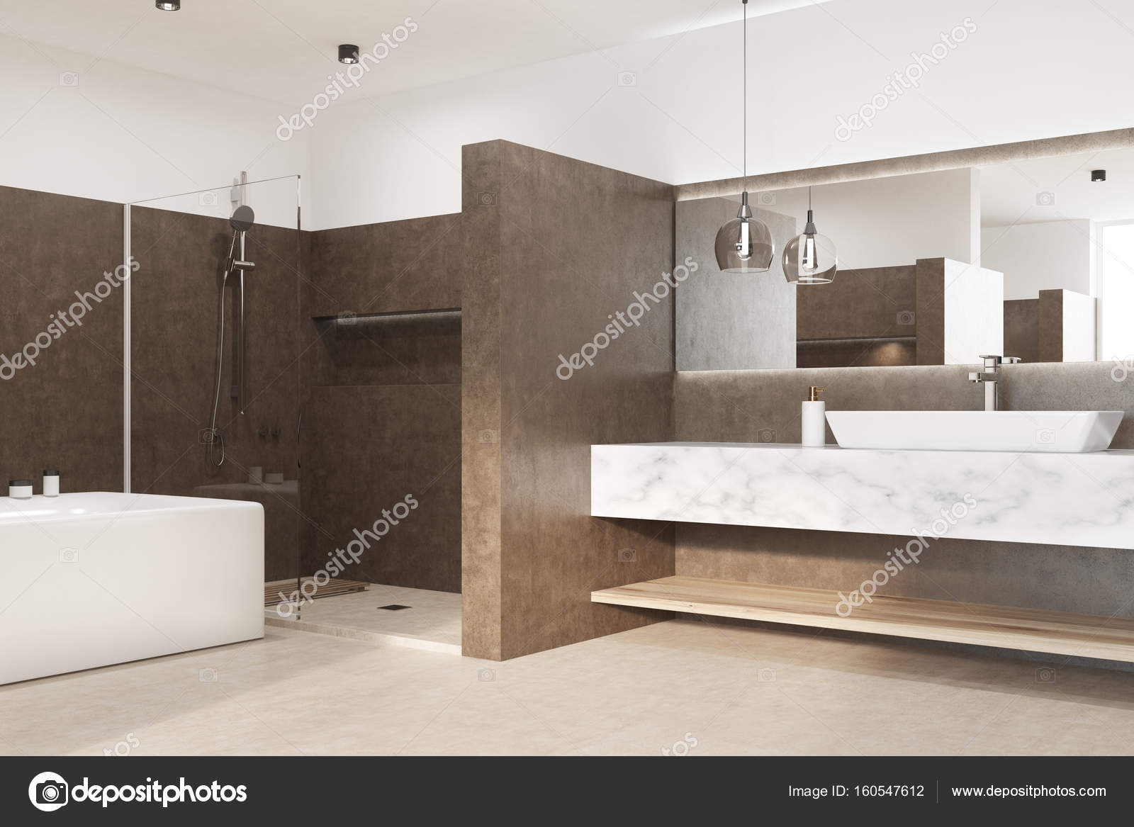 Lavello Bagno Angolare : Rosolare il bagno con una vasca angolare lavello u foto stock
