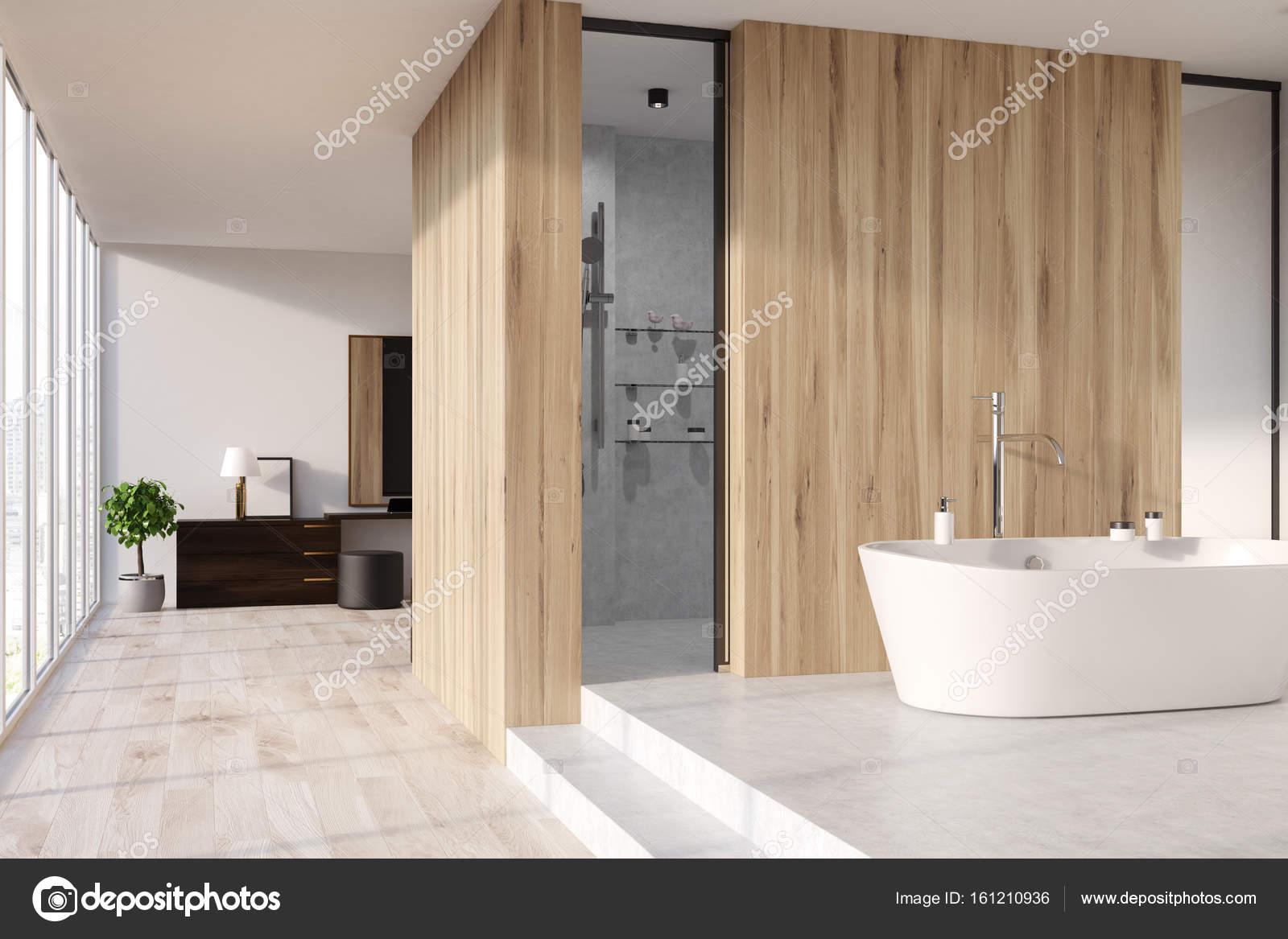 Aus Holz Bad, Dusche, Badewanne U2014 Stockfoto